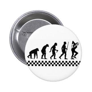 Evolution of Ska Badge 2 Inch Round Button