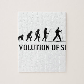 Evolution Of Ski Jigsaw Puzzle