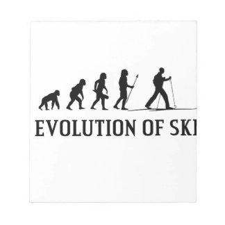 Evolution Of Ski Notepad