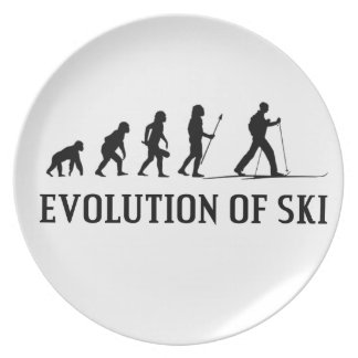 Evolution Of Ski Party Plate