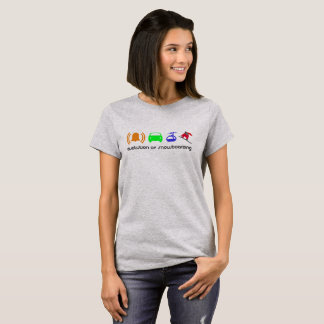 Evolution of snowboarding women T-Shirt