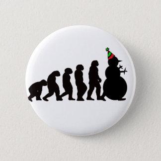 Evolution of Snowman! 2 Inch Round Button