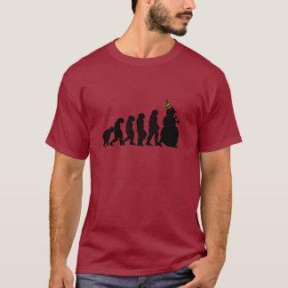 Evolution of Snowman T-Shirt