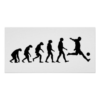 Evolution of Soccer Poster