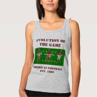 Evolution of the Game--American Football Tank Top