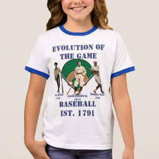 Evolution of the Game--Baseball Ringer T-Shirt