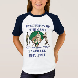Evolution of the Game--Baseball T-Shirt