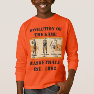 Evolution of the Game--Basketball T-Shirt