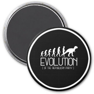 Evolution of the Republican Party - - Pro-Science  3 Inch Round Magnet
