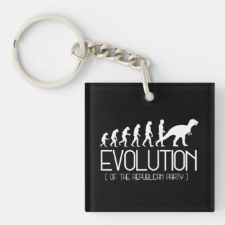 Evolution of the Republican Party - - Pro-Science  Single-Sided Square Acrylic Keychain