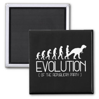 Evolution of the Republican Party - - Pro-Science  Square Magnet