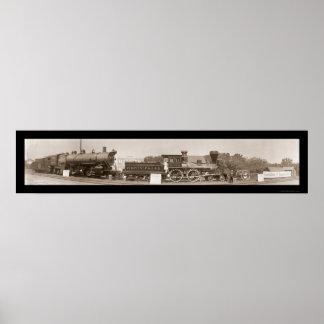 Evolution of Trains Photo 1913 Poster
