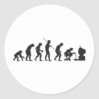 Evolution of Video Games Gaming Gamer Classic Round Sticker