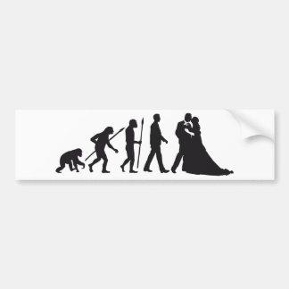 Évolution of wedding autocollant pour voiture