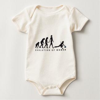 Evolution OF woman curling Baby Bodysuit