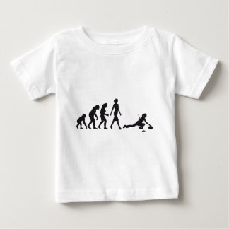 Evolution OF woman curling Baby T-Shirt