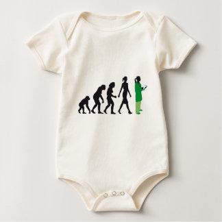evolution OF woman female doctor Baby Bodysuit