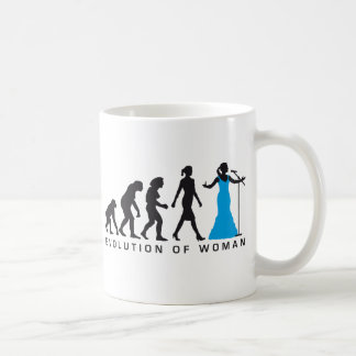 Evolution OF woman female opera more singer Coffee Mug