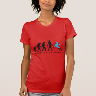 evolution OF woman skiing T-Shirt