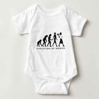 Evolution OF woman waitress Baby Bodysuit