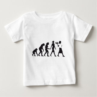 Evolution OF woman waitress Baby T-Shirt