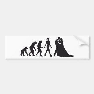 évolution of woman wedding autocollants pour voiture