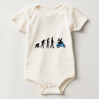 evolution OF woman wedding more scooter Baby Bodysuit
