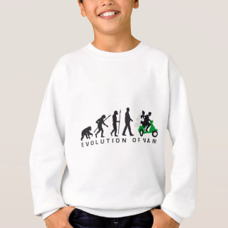 evolution OF woman wedding more scooter Sweatshirt