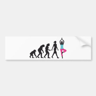 evolution OF woman yoga position Bumper Sticker