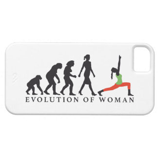 evolution OF woman yoga position iPhone 5 Case