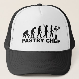 Evolution pastry chef trucker hat