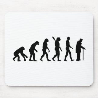 Evolution Pensioner old man Mouse Pads