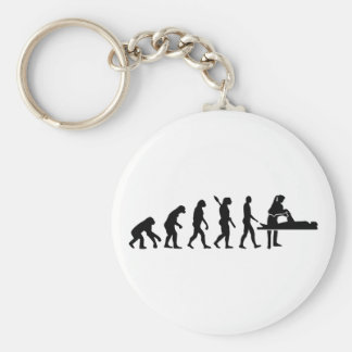 Evolution physiotherapist basic round button keychain