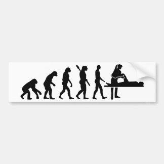 Evolution physiotherapist bumper sticker