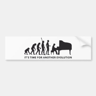 evolution piano bumper sticker