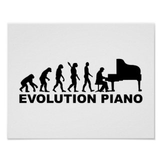 Evolution Piano Poster