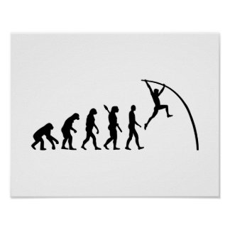 Evolution Pole vault Poster