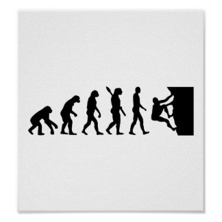 Evolution rock climbing poster