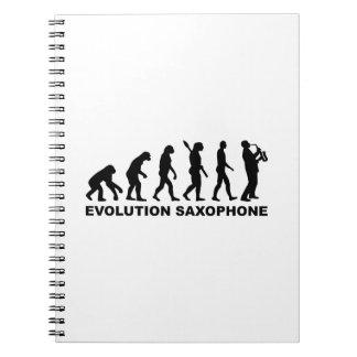 Evolution Saxophone Spiral Notebook