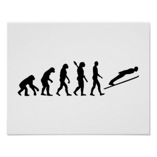 Evolution ski jumping poster