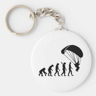Evolution Skydiving Basic Round Button Keychain