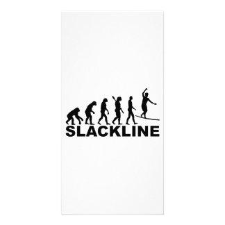 Evolution Slackline Personalized Photo Card