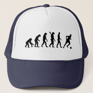 Evolution soccer player trucker hat