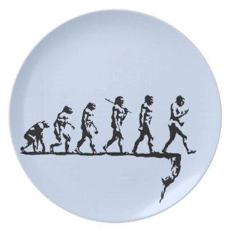 Evolution Social Extinction Party Plates