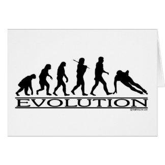 Evolution - Speed Skating Greeting Card
