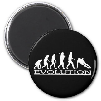 Evolution - Speed Skating 2 Inch Round Magnet