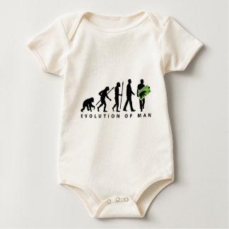 evolution stamp collector philatelist baby bodysuit