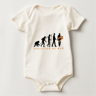 evolution stamp collector philatelist baby bodysuit