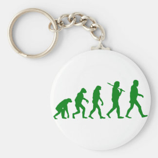 Evolution Standard - Green Basic Round Button Keychain