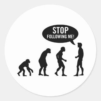 évolution sticker rond